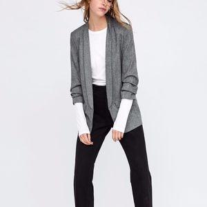Zara Woman Blazer with Pleated Sleeves Size Small